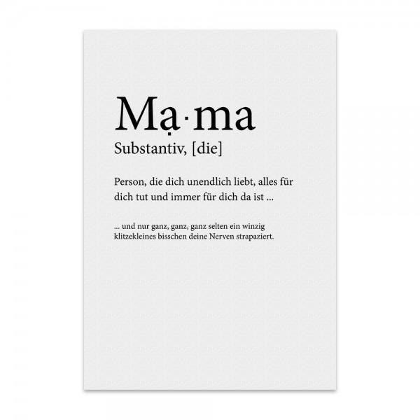 Kunstdruck, Poster - Mama Substantiv