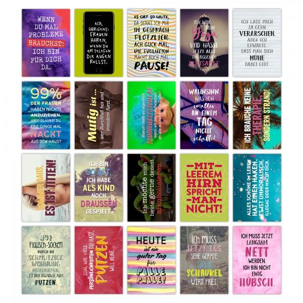Postkarten Set - FUNNY - mit Sprüchen von TypeStoff