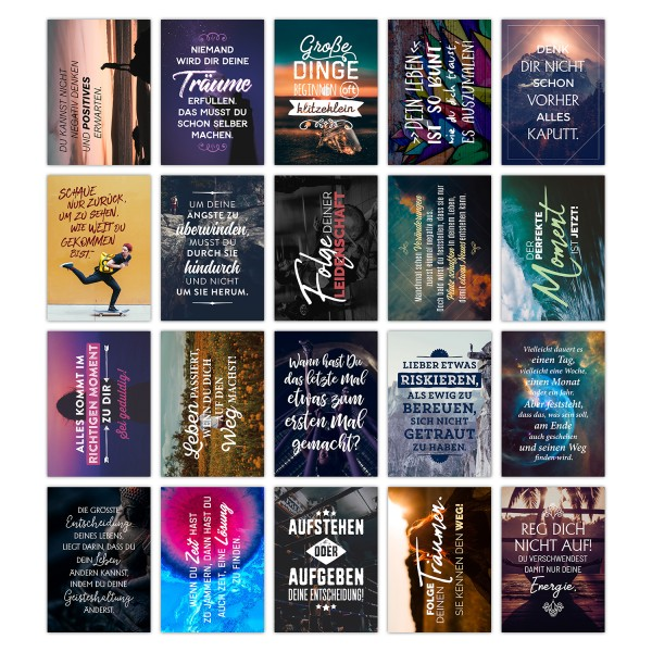 Postkarten Set - MOTIVATION - mit Sprüchen von TypeStoff