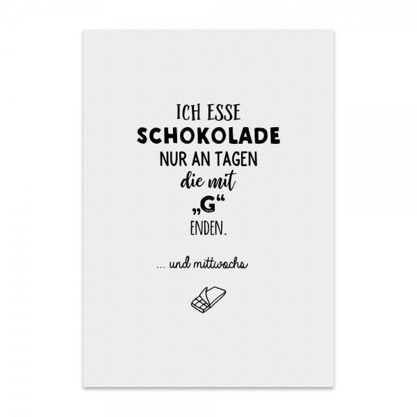 Kunstdruck, Poster - Ich esse Schokolade
