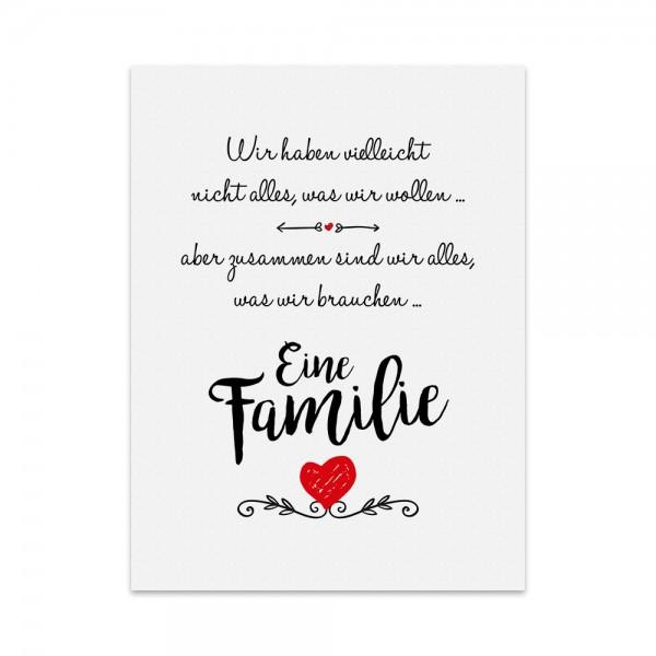 Kunstdruck, Poster - Familie