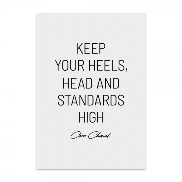Kunstdruck, Poster - keep your heels
