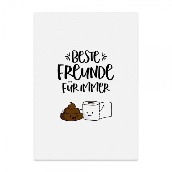 Kunstdruck, Poster - Beste Freunde für Immer