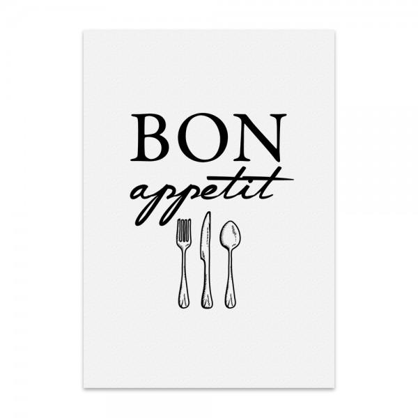 Kunstdruck, Poster - bon appetit