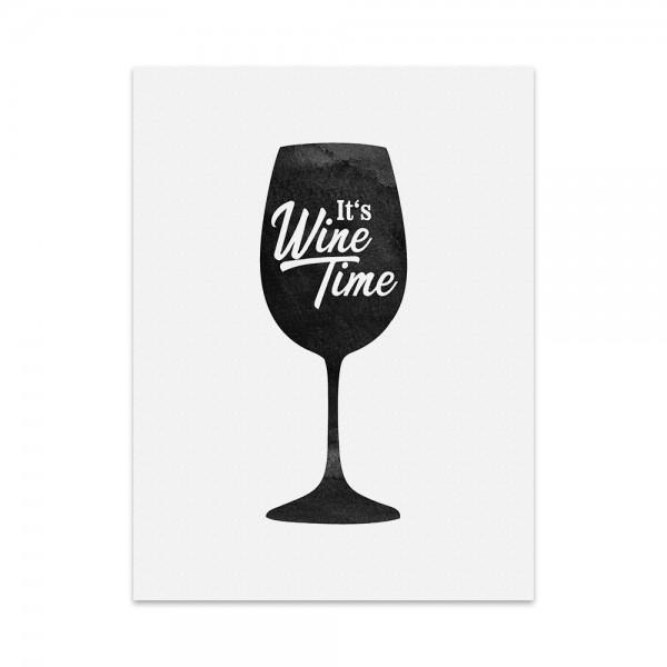 Kunstdruck, Poster - It's Wine Time