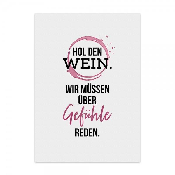 Kunstdruck, Poster - Hol den Wein