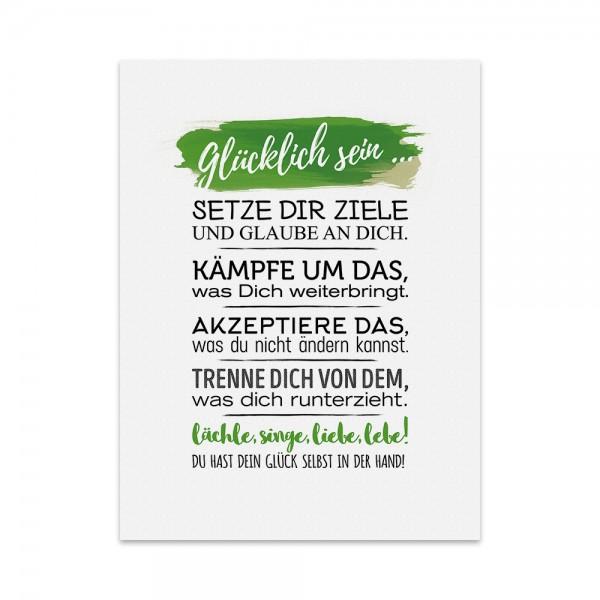 Kunstdruck, Poster - Glücklich sein
