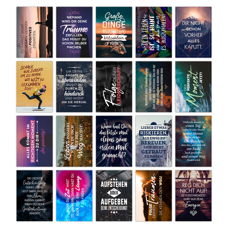 Postkarten Set Motivation